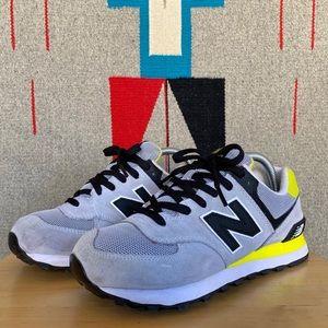 New Balance WL574CPJ Neon Yellow Sneaker Size 8.5